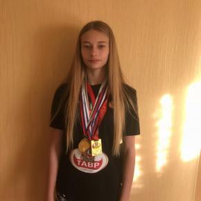 Леванова Виктория прошла отбор в Ростовское областное училище Олимпийского резерва